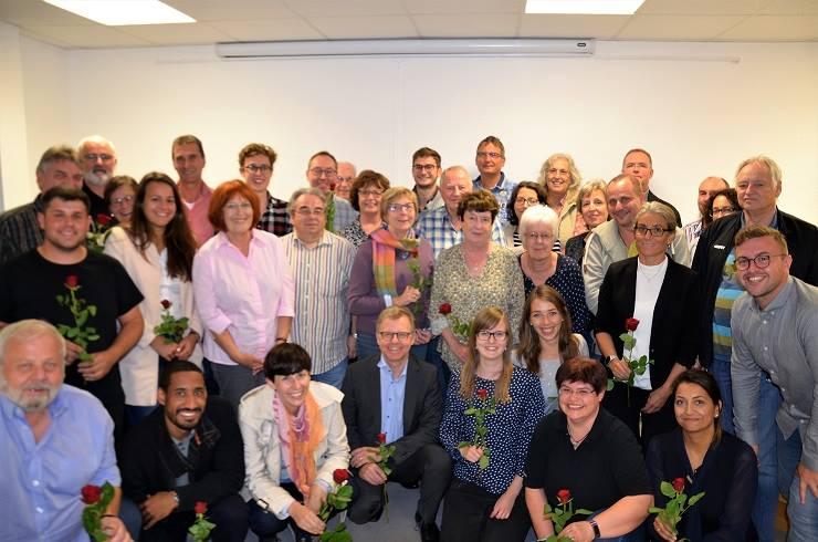 Die SPD-Kandidatinnen und Kandidaten zum Limburgerhofer Gemeinderat.
